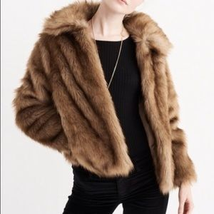 Abercrombie and Fitch faux fur coat